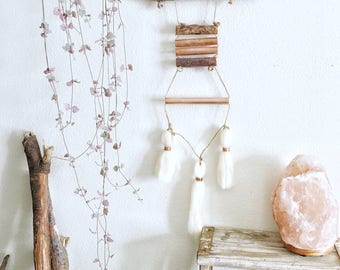 Driftwood Wall Hanging with Wool and Copper Accents || Mini's Series