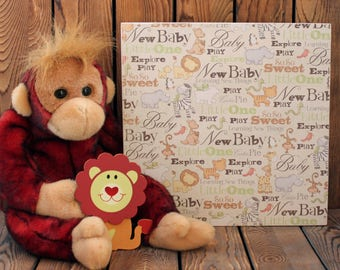 Baby Shower Gift,Nursery Wall Art,Newborn Baby Gift,Nursery Wall Decor,Quotes On Wood,Baby Animals,Baby Gift,Wood Frame,Wood Sign,Quote Art