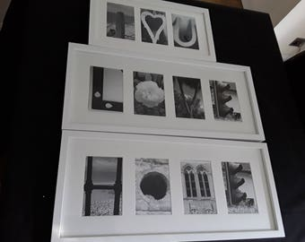 Alphabet photography letter word art pictures  frame your name