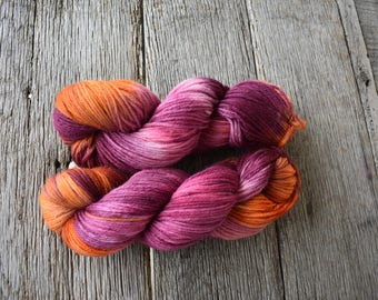 """Hand Dyed Yarn """"Sunset"""" Worsted Weight"""