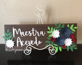Custom Name Plaque | Teacher Gift | Name Sign