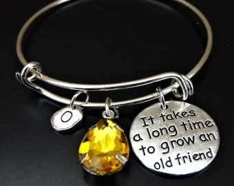 It takes a long time to grow an old friend Bracelet, Friend Bracelet, Friend Jewelry, Best Friend Bracelet, Best Friend Jewelry, Friendship