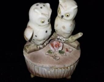 Lefton Owl Trinket Box