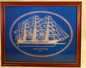 "Clipper Ship ""GREAT REPUBLIC"" Commissioned 1853"