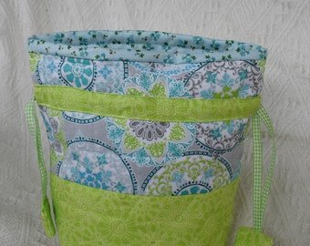 Quilted Knitting Project Bag