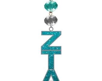 ZTA Logo Bling - Zeta Tau Alpha Sorority - Magnetic Ornament,Zta Decor,Zta Ornament,Zeta Tau Alpha,Zta,Zta big little gift,Zeta
