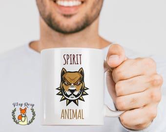 Funny Mug   Funny Pitbull Gift   Spirit Animal   Pitbull Coffee Mug   Pitbull Spirit Animal Mug   Funny Pitbull Mug   Pitbull   CM-181