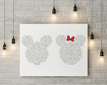 DISNEY LOVE QUOTES   *Printed Canvas* *Free Shipping*   Mickey U0026 Minnie