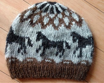 Icelandic horse hat, létt lopi