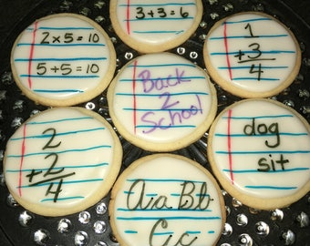 Back to School First Day of School DecoratedCookies
