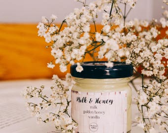 Milk & Honey - 1.5oz Candle - Rupi Kuar - Scented Soy Candle - Book Lover Gift