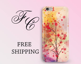 Floral Tree Phone Case iPhone 7 Case i Phone 7 Plus Cases iPhone 6s Case Plastic iPhone 6 Case iPhone 5s Case Color Phone Cover iPhone 5 ccj