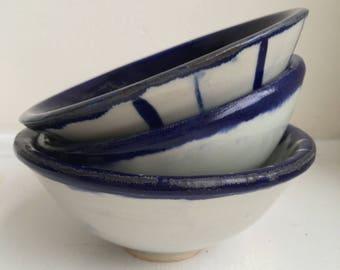 Handmade Ceramic Rice Bowls_ Wheel Thrown pottery