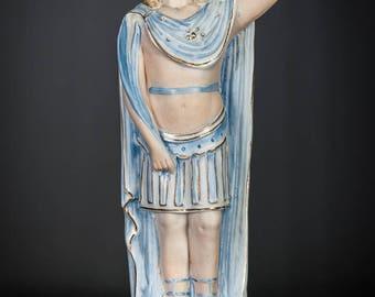 RARE Antique Saint Donatus Bisque Porcelain Statue Muenstereifel St Figurine