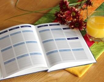 Weekly planner NO DATE - #50 - Agenda hebdomadaire - All colors - Imprimé - Samainier - Livre couleur