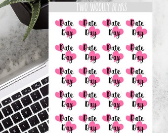 Date Day Planner Stickers