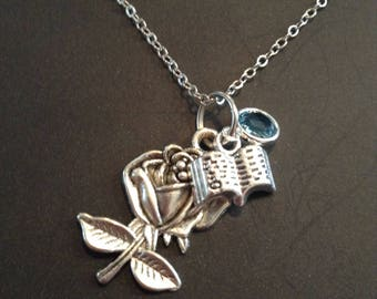 Belle Once Upon A Time Necklace