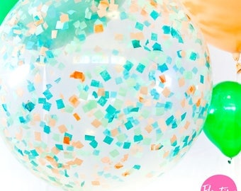 "Colossal Confetti Balloon -Giant 36"" balloons filled with any color your heart desires"