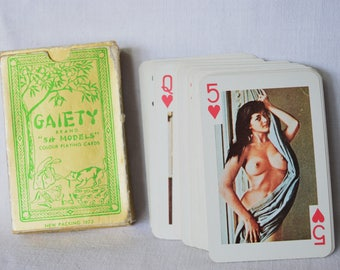 Vintage Playing Cards, GAIETY CARDS, 54 models, 1973 Playing Cards , Pin - Up Cards , Pinup Playing Cards, Pin Up Girls Models