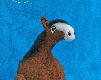 Roly Poly Clydesdale - Needle Felted decorative heavy horse sculpture.