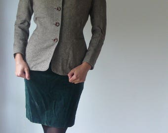 Vintage Wool Tweed Womens Jacket, The bird that would soar above the level plain of tradition