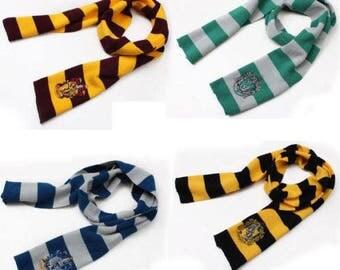 Harry Potter Gryffindor Slytherin Hufflepuff Ravenclaw Scarf Scarves