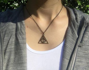 Deathly Hallows Pendant Necklace Harry Potter 2017
