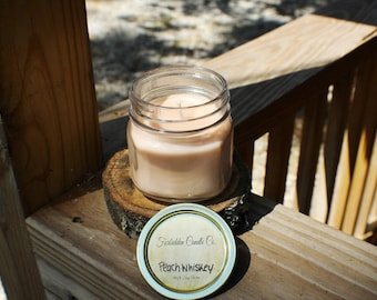 Peach Whiskey 8oz Soy Candle