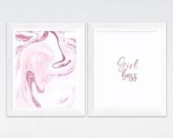 Girl Boss Print, Girl Power, Girl Printables, Girl Boss Printable, Boss Lady, Gift For Her Girl Boss Quote Girl Room Decor Feminist Wall Art