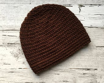 FREE SHIPPING Basic Beanie in Brown