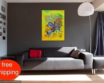 """Acrylbild, Malerei, Gemälde, Abstrakt, """"Music"""", acrylic painting, Acryl auf Leinwand, Original, Zeitgenössische Kunst, Modern, Handgefertigt"""