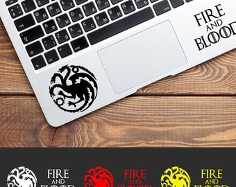 House Targaryen Decal, Game of Thrones Decals, Targaryen Fire and Blood, Game of Thrones Stickers, Car Decal, Laptop Decals, Window Decal