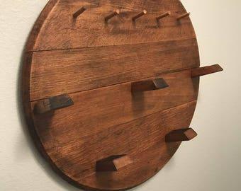Barrel Head Coat Rack