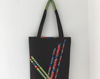 Reversible Tote Bag in Ankara & Felt #5