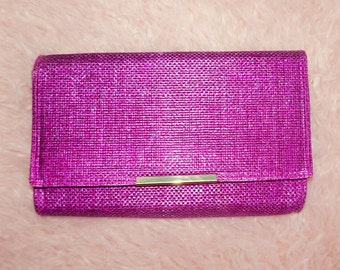 Purple Straw Clutch