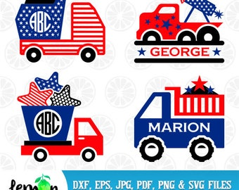 American svg file boy, Patriotic Truck svg, American DXF, Cricut American, Monster Truck, 4th July Svg, American 11