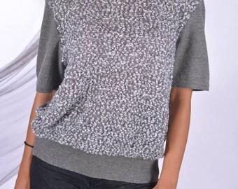 Vintage Escada Margaretha Ley jumper blouse wool cashmere mohair size EU 42