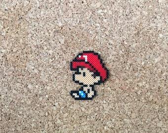 Baby Mario Magnets , Retro Fridge Magnet , Peach Luigi , SNES , GBA , Nintendo Perler , Super Mario Bros  , Yoshi's Island , Geek Gift