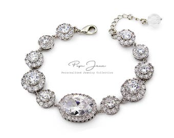 Wedding Bracelet Zirconia Bracelet Wedding Jewelry Bridal Bracelet Bridesmaid Bracelet Bride Bracelet Wedding Accessory Bridal Jewelry Bao