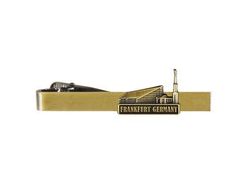 Frankfurt Germany Temple Gold Tie Bar - LDS Gifts