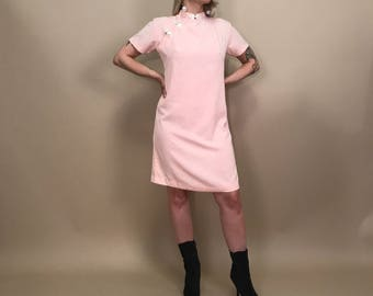 Peachy pink cheongsam dress M