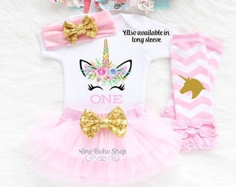 1st Birthday Girl Outfit, First Birthday Outfit Girl, Unicorn First Birthday Outfit, Unicorn Themed Birthday, Unicorn Birthday Shirt U1LP