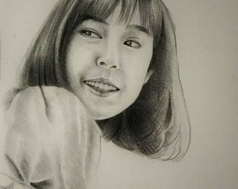 Custom Portrait, drawing, 11.69 x 16.54 inch- Painting From Your Photo