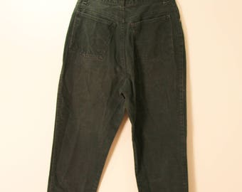 Forest Green High-Waist 90s Jeans | 30W