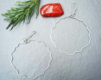 Silver hoop earrings, large hoops, silver hoops, silver earrings, circle earrings, thin hoops, big hoop earrings, statement earrings