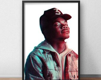 Chance The Rapper Poster, Chance Rapper Print, Chance Merch, Chance The Rapper, Chance Poster, Chance, Hip Hop, Dorm Decor, Dorm Wall Art