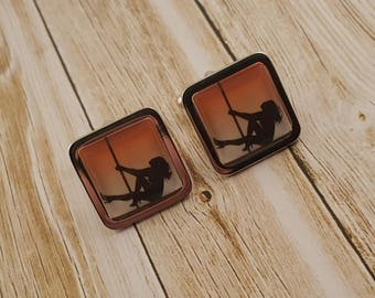 Pole Dancing Cufflinks