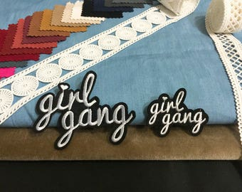 Girl gang  big size and small size ,iron on patch ,embroidered patch ,feminism patch, DIY