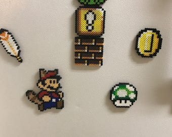 7 piece mario inspired magnet set