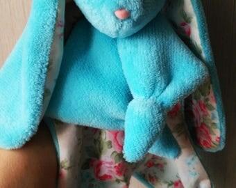 Taggy Bunny Sensory Comforter, Baby Shower Gift,